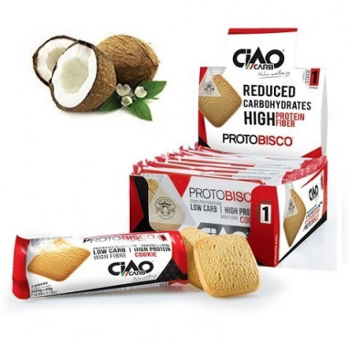 Pack of 10 CiaoCarb Coconut Protobisco Stage 1 Cookies