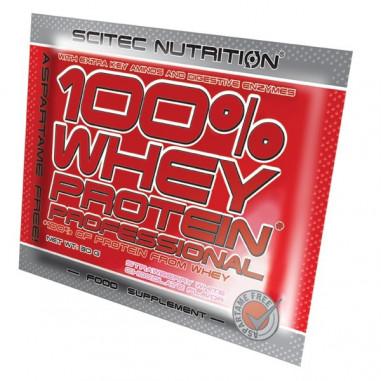 100% Whey Professional Scitec Nutrition Kiwi Plátano monodosis 30 g