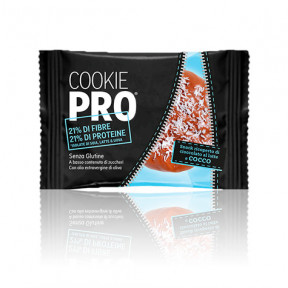 Galleta Cookie Pro Cubierta de Chocolate con Leche y Coco Alevo 13,6 g