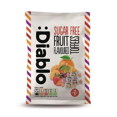 Caramelos sabor fruta con dulce de caramelo sin azúcar :Diablo 75 g