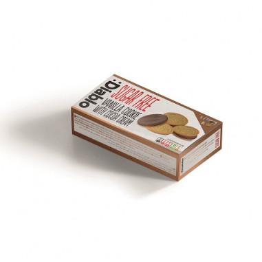 Biscuits à la Vanille Fourrés à la Crème au Chocolat sans Sucre :Diablo 176g