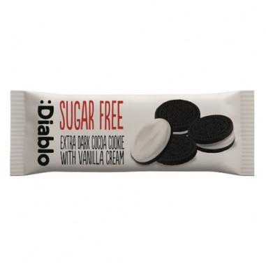 Biscoitos de Chocolate Recheados com Creme de Baunilha sem Açúcar :Diablo 176g