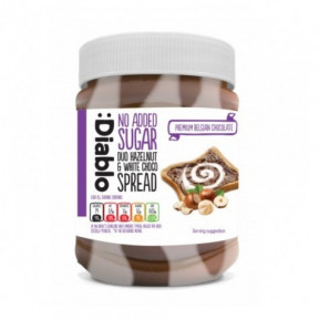 :Diablo no Added Sugar Duo Hazelnut & White Choco Spread 350 g