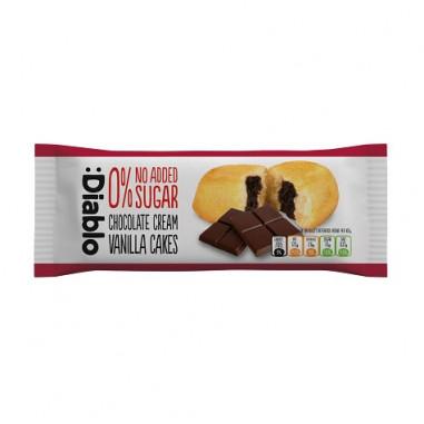 Gâteau à la Vanille Fourré à la Crème au Chocolat sans Sucre Ajouté :Diablo 50g