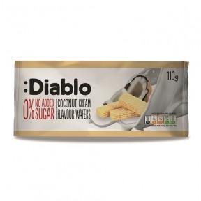 Gaufrettes Fourrées goût Crème à la Noix de Coco sans Sucres Ajoutés :Diablo 110 g