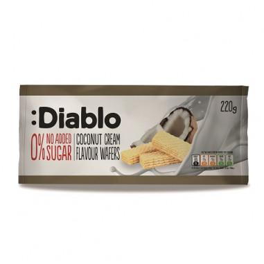 :Diablo 0% No Added Sugar Coconut Cream Flavour Wafers 220 g