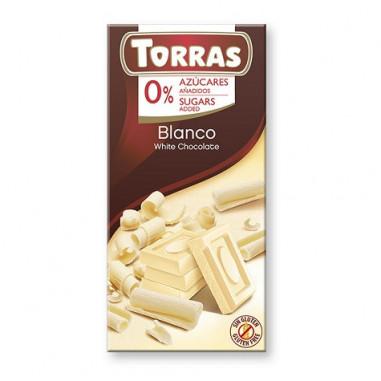 Chocolate Blanco sin Azúcar Torras 75g