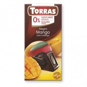 Chocolate Preto com Manga Sem Açúcar Torras 75 g