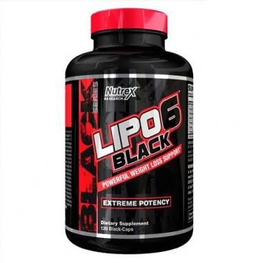 Lipo 6 Black 120 Cápsulas para perder peso Potencia Extrema Nutrex Research