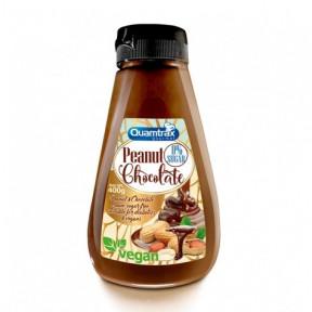 Crème Cacahuète et Chocolat 0% Sucre Quamtrax 400 g