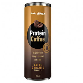 Bebida Proteica de Café Protein Coffee sabor Latte Caramel Body Attack 250 ml