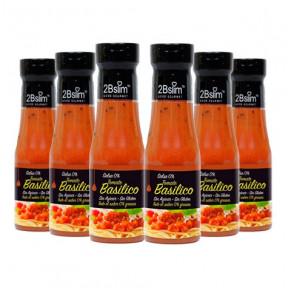 Pack de 6 Salsa de Tomate con Albahaca 0% 2bSlim 250 ml