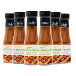 Pack de 6 Sirops Caramel 0% 2bSlim 250 ml