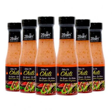 Pack de 6 Sauces Chili 0% 2bSlim 250 ml