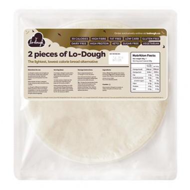 Pan plano bajo en carbohidratos Lo-Dough 2x28g