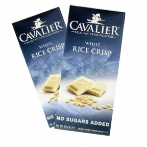 Cavalier White Chocolate with Rice Crisp 85 g