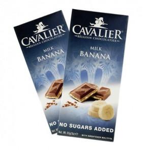 Tableta de Chocolate con Leche y Plátano Cavalier 85 g