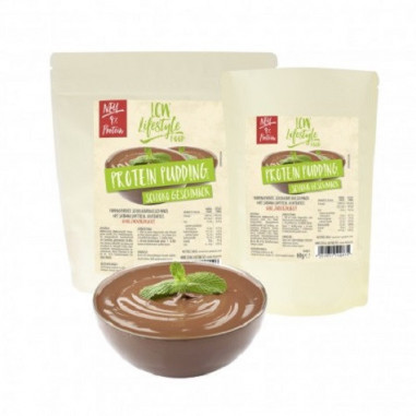 Preparado para elaborar natillas de chocolate low-carb LCW 60 g