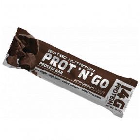 Barra de Proteína Reduzida em Hidratos Prot 'N' Go Chocolate Scitec Nutrition 45 g