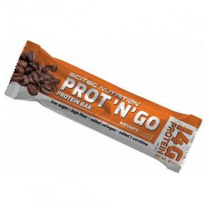 Barrita Proteica Low-Carb Prot 'N' Go Café de Scitec Nutrition 45 g