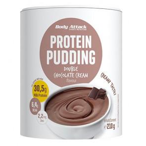 Preparado para fazer Chocolate Protein Pudim Body Attack 210g