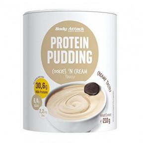 Preparado para fazer Cookies & Cream Protein Pudim Body Attack 210g
