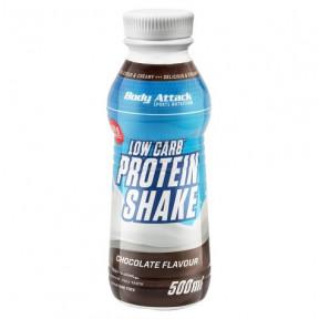 Shake Protéiné Low-Carb Goût Chocolat Body Attack 500 ml