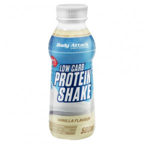 Body Attack Low-Carb Protein Shake Vanilla Flavour 500 ml
