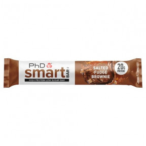 Smart Bar Brownie con Caramelo Salado PhD 64g