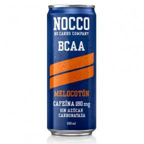 Bebida Low-Carb com BCAA e Cafeína sabor Pêssego Nocco 330 ml