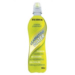 Bebida L-Carnitine Water 1000 mg Sabor Limón-Starfruit Weider 500 ml