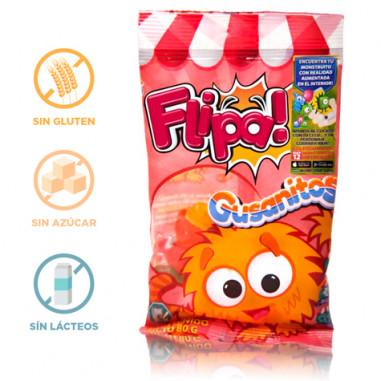 Bonbons sans Sucre Vers de Terre Flipa 80 g