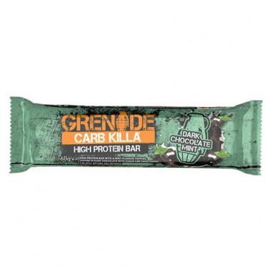 Barra de Proteína Carb Killa sabor Chocolate Preto com Hortelã Grenade 60 g
