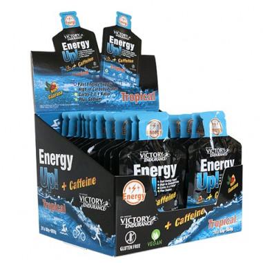 Boìte 24 x 40g Energy Up! + Caféine Gel Victory Endurance Tropical