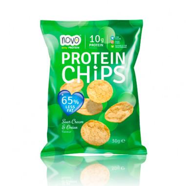 Protein Chips Cebolla y Crema Agria 30 g Novo Nutrition