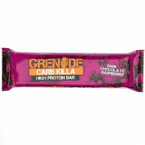 Barrita Proteica Carb Killa sabor Chocolate Negro con Frambuesa Grenade 60 g