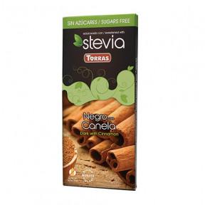 Chocolate Preto com Canela Adoçados com Stevia Torras 125 g