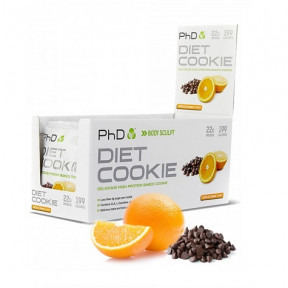 Galleta Proteica sabor Arándanos con Chocoalte Blanco Diet Cookie PHD 50 g