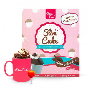 Bizcocho en Taza Low-Carb Slim Cake sabor Chocolate Clean Foods 250 g
