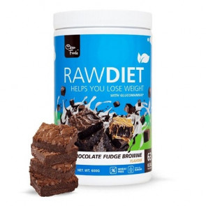 Preparado para Batido Sustitutivo Raw Diet sabor Brownie de Chocolate Clean Foods 600 g