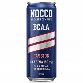 Bebida Low-Carb con BCAA y Cafeína sabor Passion Nocco 330 ml