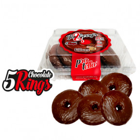 Pack 5 Donuts Protella sabor Chocolate Joe and Gerry's (5 uds) 208 g