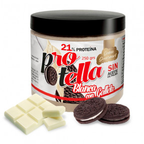 Crema Proteica de Chocolate Blanco con Galletas de Protella 250 g