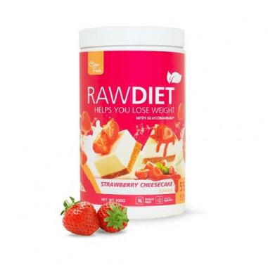 Préparation pour shake de substitution Raw Diet goût Cheesecake à la Fraise Clean Foods 600 g