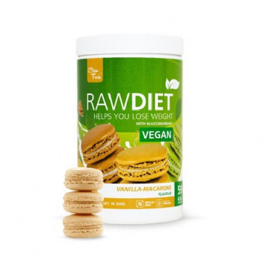 Clean Foods Raw Diet Vegan Vanilla Macarons Taste 600 g