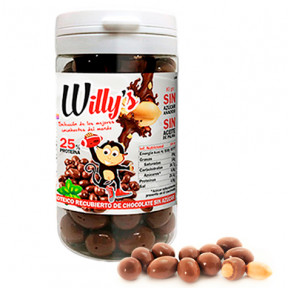 Cacahuetes Willy's con Chocolate Protella 80 g