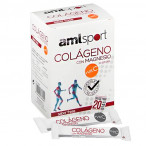 Amlsport Collagen With Magnesium + Vitamin C Strawberry Flavor 20 Sticks
