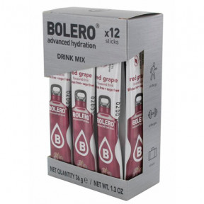 Pack 12 Sticks Bebidas Bolero sabor Uva Roja 36 g