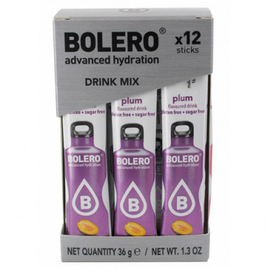 Pack de 12 Bolero Drinks Sticks Ameixa 36 g