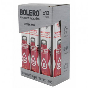 Pack 12 Bolero Drinks Sticks Cranberry 36 g